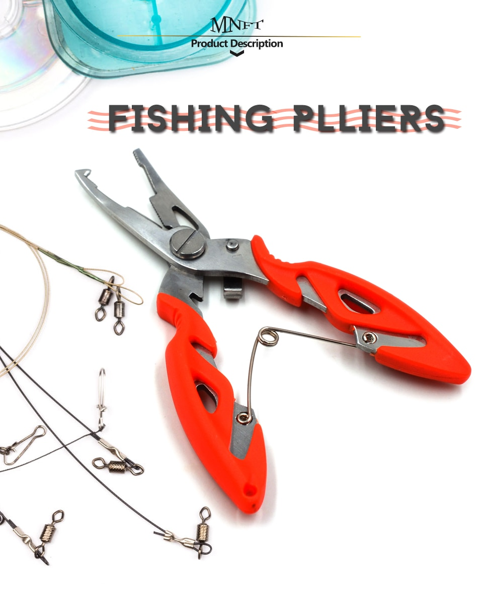 MNFT Fishing Plier Scissor Braid Line Lure Cutter Hook Remover etc. Tackle Tool Cutting Fish Use Tongs Multifunction Scissors