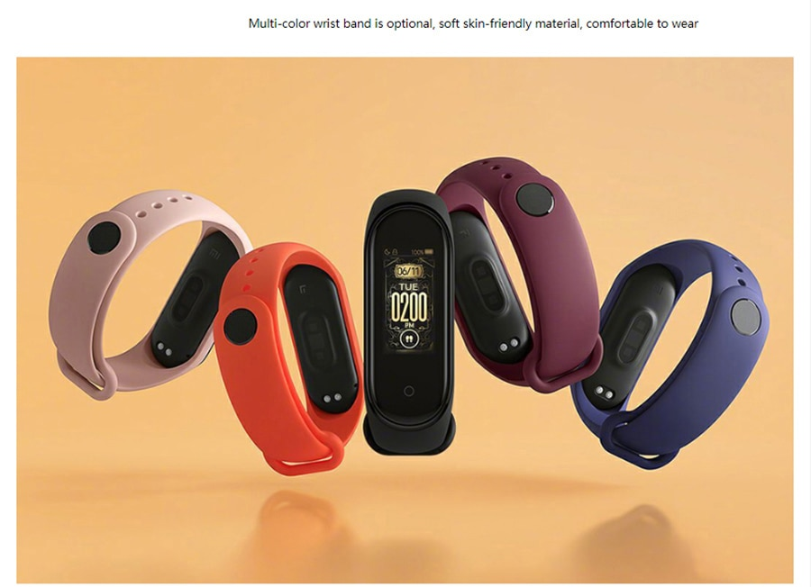 Xiaomi Mi Band 4 Newest Sport Miband 4 Smart Bracelet Heart Rate Fitness Tracker 135mAh Color Screen Waterproof Bluetooth 5.0