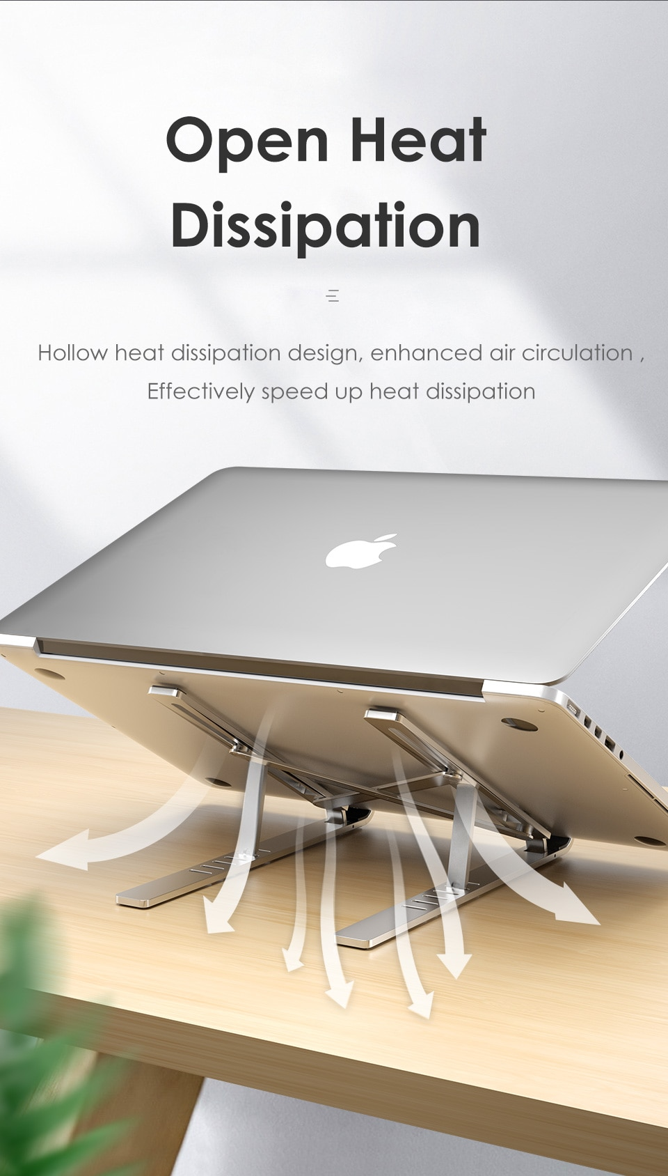 LINGCHEN Laptop Holder for MacBook Air Pro Notebook Foldable Aluminium Alloy Laptop Stand Bracket Laptop Holder for PC Notebook