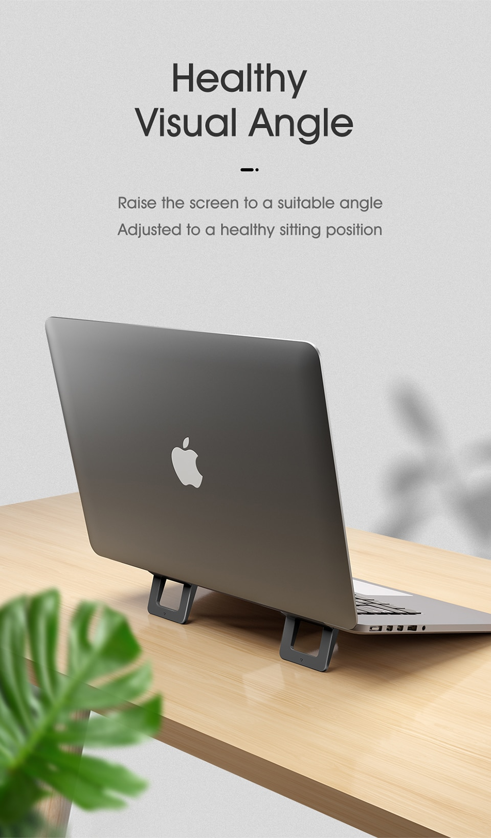 LINGCHEN Laptop Stand for MacBook Pro Universal Desktop Laptop Holder Mini Portable Cooling Pad Notebook Stand for Macbook Air