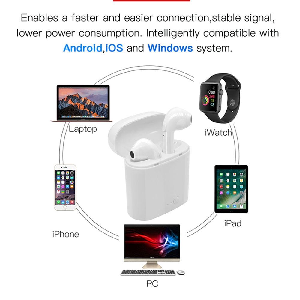 i7s TWS Wireless Earpiece  Bluetooth 5.0 Earphones sport Earbuds Headset With Mic For smart Phone  Xiaomi Samsung Huawei LG