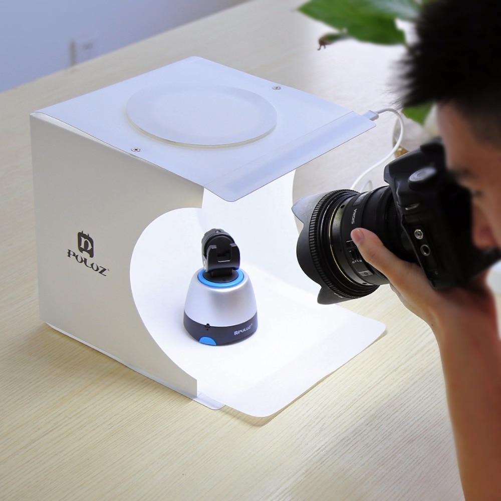 Portable Folding Lightbox Photography Studio Softbox LED Light Soft Box fotografia for iPhone HTC DSLR Camera Photo Background