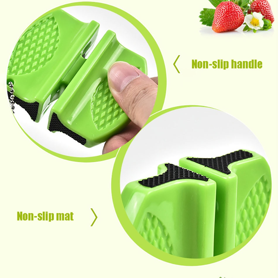 ONEUP Mini Ceramic Rod Knife Sharpener Two-stage Tungsten Portable Butterfly Type Whetstone Sharpener Sharpening Knives Stone