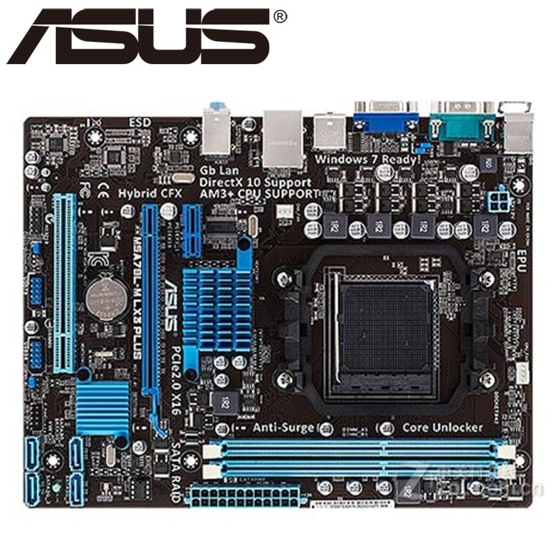 Asus M5A78L-M LX3 PLUS Desktop Motherboard 760G 780L Socket  AM3+ DDR3 16G Micro ATX UEFI BIOS Original Used Mainboard