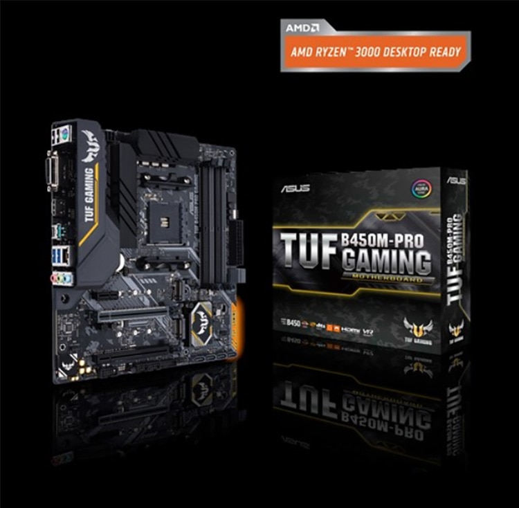 ASUS Motherboard TUF B450m-Pro GAMING MATX Motherboard Supports CPU 3700X/3600X/3600/2600(AMD B450/ Socket AM4)