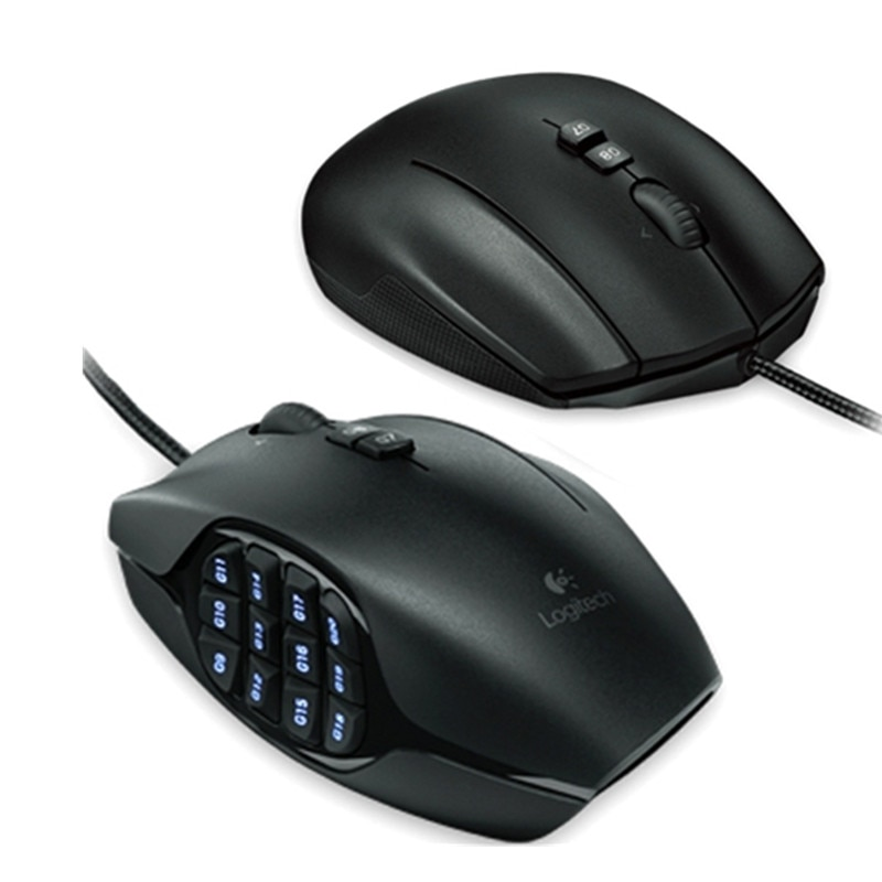 Logitech G600 MMO Wired Gaming Mouse Laptop PC Gamer Mouse 8200DPI Opticali Genuine 17 Programmable Buttons Official Agency Test