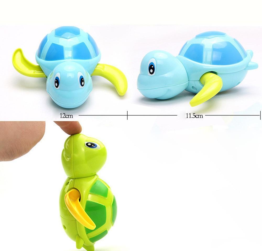 Kids 2018 Baby Multi-type Wind Up 1pc Chain Bathing Tortoise Shower Clockwork water baby toys Shower Clockwork for children