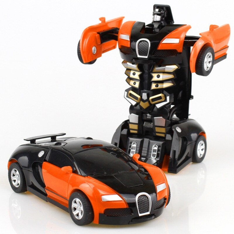New One-key Deformation Car Toys Automatic Transform Robot Plastic Model Car Funny Diecasts Toy Boys Amazing Gifts Kid Toy