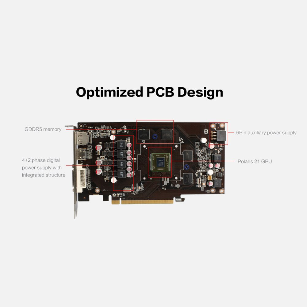 Dual Fan GPU Graphics Card Yeston RX560D-4G D5 1200/6000MHz 4G 128bit GDDR5 HDMI DVI DP 14nm Gaming Video Player Module