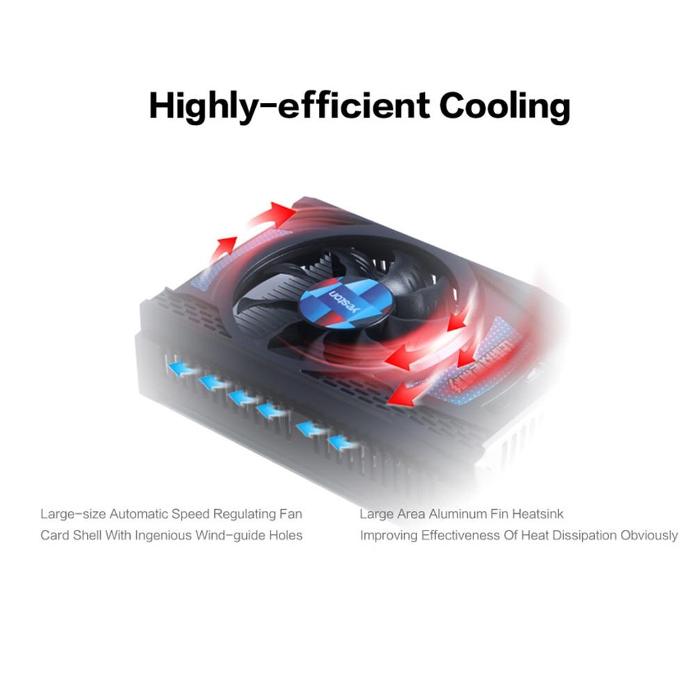 Yeston RX550D-4G D5 GPU Fan Graphics Card PCI Express 3.0 1071/6000MHz 4G 128bit GDDR5 External Gaming Video Module for Desktop