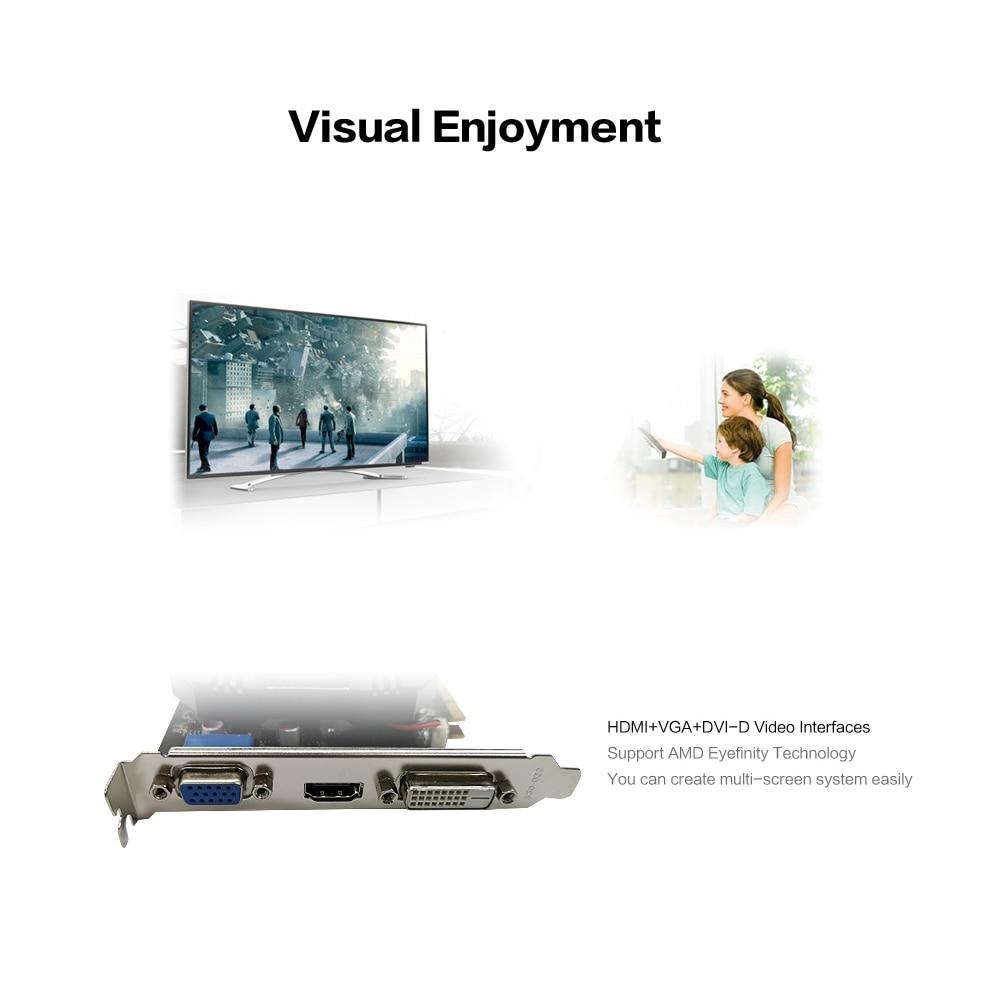 Yeston R5 240 - 4G D3 VA Graphic Card DirectX 11 Video Card 4GB/64bit 1333MHz Low Power Consumption GPU 2 Phase