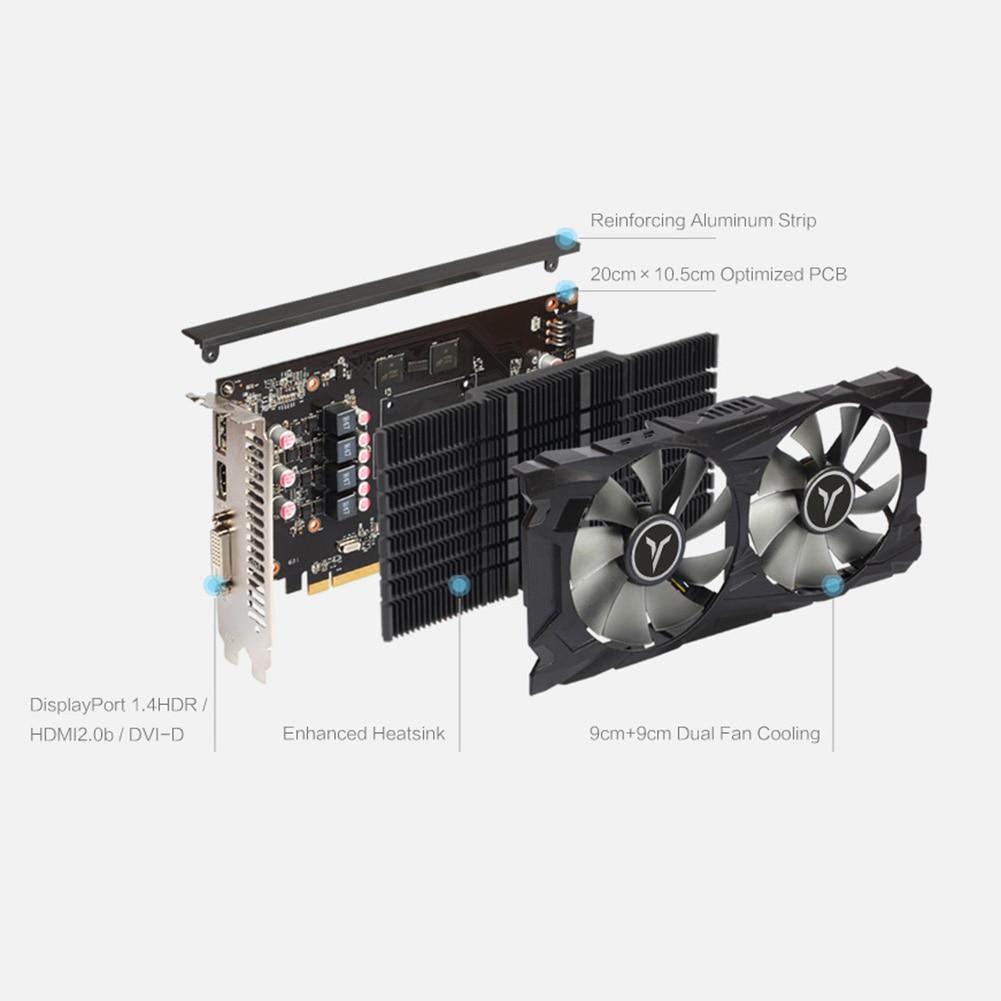 Yeston RX560D 4GB GDDR5 GAEA RX 560 Graphic Card Dual Fan Cooling 4GB GDDR5 128bit DP + HD + DVI-D GPU Desktop Video Card For PC