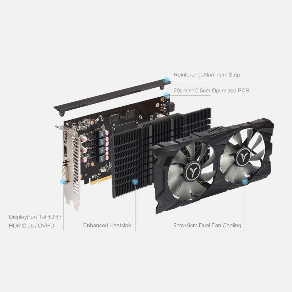 Yeston RX560D-4G D5 GAEA Graphics Cards Dual Fan Cooling 4GB Memory GDDR5 128bit DP + HDMI + DVI-D GPU Enhanced Heatsink