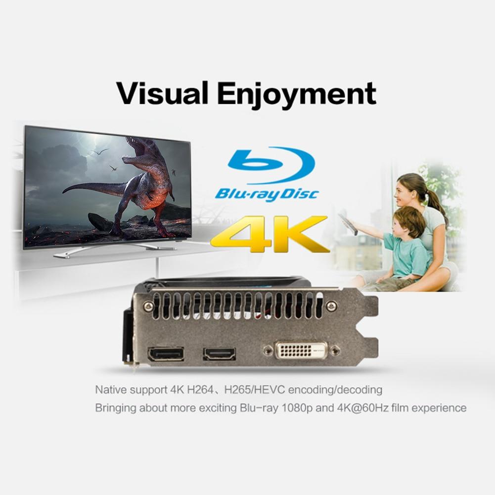 Yeston RX 550 2G D5 TA Graphic Card Video Card Radeon Chill 2GB Memory GDDR5 128Bit 6000MHz DP+HD+DVI-D Small Size GPU For PC